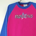 古着リメイク ベースボールT FABULOUS 【メール便のみ】(sale商品)