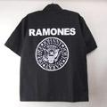 (L)ラモーンズ ブラックシャツ RAMONES (新品)(sale商品)