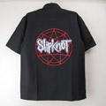 (L) スリップノット ブラックシャツ SLIPKNOT (新品)(sale商品)