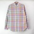 【表記15M 】ラルフローレン チェック ボタンダウンシャツ 古着 (sale商品)