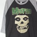 (M)ミスフィッツ ベースボールTシャツ (新品) 【メール便可】