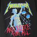 (M) メタリカ AND JUSTICE FOR ALL Tシャツ (新品) 【メール便送料無料】
