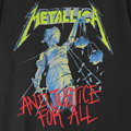 (L) メタリカ AND JUSTICE FOR ALL Tシャツ (新品) 【メール便送料無料】