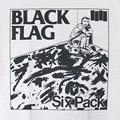 (L)ブラックフラッグ #6 WHT Tシャツ(新品)【メール便可】
