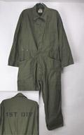 アメリカ軍 70's コットンサテン カバーオール ツナギ(MEDIUM)