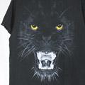 アニマルプリント #8 黒豹 Tシャツ (古着) 【メール便可】