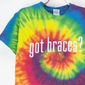 タイダイ got braces? Tシャツ (古着)【メール便可】