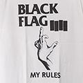 (M) ブラックフラッグ #4 WHT Tシャツ(新品)【メール便可】
