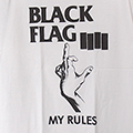(L) ブラックフラッグ #4 WHT Tシャツ(新品)【メール便可】
