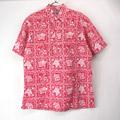 (L) レインスプーナー  プルオーバー シャツ LAHAINA SAILOR 赤  デッドストック ハワイ製