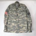 (MS) ACU カモ ミリタリーシャツジャケット