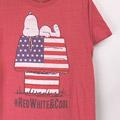 スヌーピー RED WHITE & COOL Tシャツ 古着【メール便可】