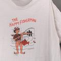 THE HAPPY FISHERMAN エロ パロディ Tシャツ 古着 リペア【メール便可】