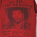ジミ・ヘンドリックス RED Tシャツ  古着 (M)【メール便可】