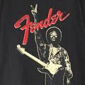ジミ・ヘンドリックス Fender Tシャツ  古着 (XL)【メール便可】