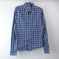アバクロンビー チェックシャツ BLUE 古着