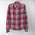 アバクロンビー チェックシャツ RED 古着