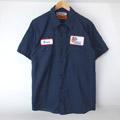 ワッペン ワークシャツ  S/S  #5 古着リサイズ