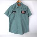 ワッペン ワークシャツ  S/S  #9  古着リサイズ