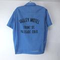 ヒルトン Hilton ボーリングシャツ BLU