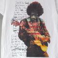 ジミヘンドリックス Letter WHT Tシャツ (新品 難あり)   【メール便送料無料】