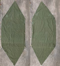 米軍 パップテント ハーフシェルター テント シート 1枚 #7