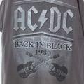AC/DC BACK IN BLACK GRY Tシャツ 古着【メール便可】