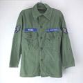 米軍 コットンサテン ユーティリティシャツ USAF リサイズ