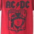 (S)AC/DC REDTシャツ (新品B) #1【メール便可】