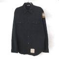 米軍 U.S.NAVY ブラックシャツ JROTC