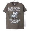 スヌーピー HARD WORK Tシャツ  古着【メール便可】
