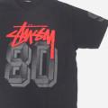 ステューシー stussy 80 BLK Tシャツ 古着【メール便可】