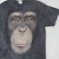 チンパンジー アニマルプリント  ムラ染め  Tシャツ 古着【メール便可】