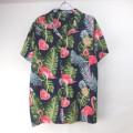 レーヨン ハワイアンシャツ #3 フラミンゴ  NV (M)【メール便可】