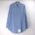 シャンブレーシャツ デッドストック (M) navshirt Made in U.S.A.【メール便可】
